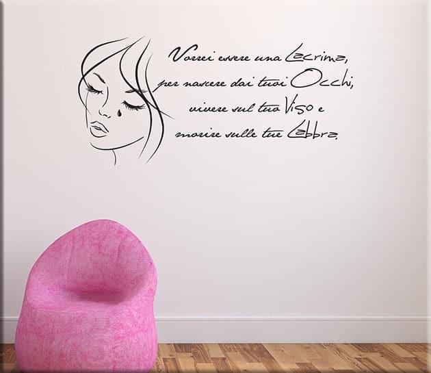 decorazioni adesive murali frasi love