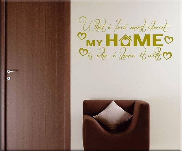 decorazioni murali frasi home casa