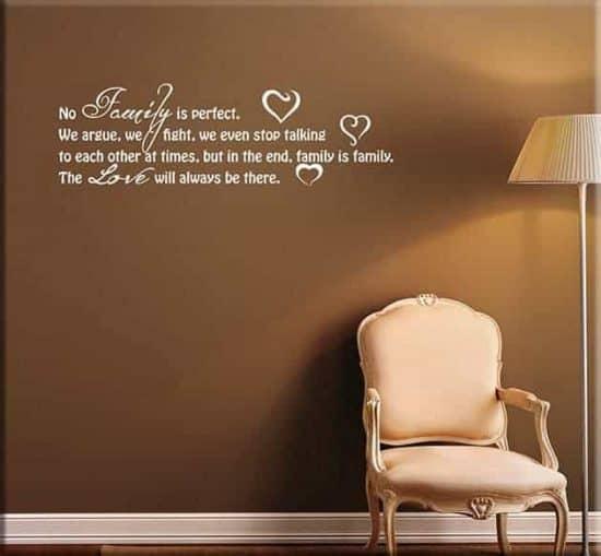 decorazioni murali frasi love family