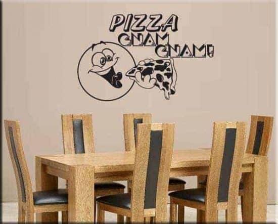 decorazioni murali pizza gnam