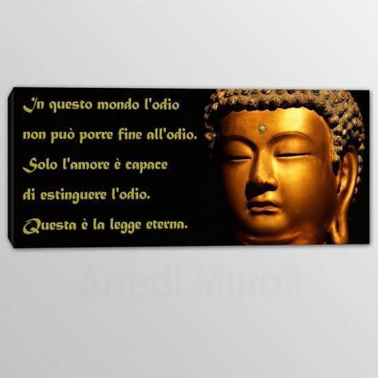 quadro moderno con frase sull'odio di buddha