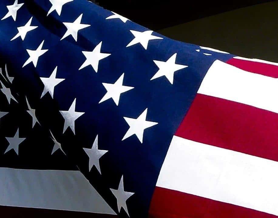 quadri moderni bandiera americana riproduzione