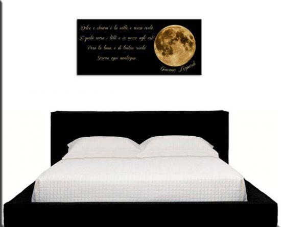 quadro moderno frase luna Giacomo Leopardi