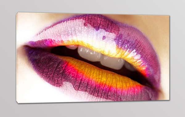 quadro moderno labbra donna