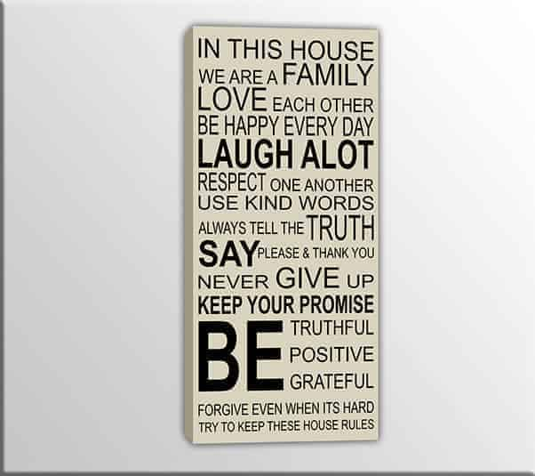 quadro moderno this house family
