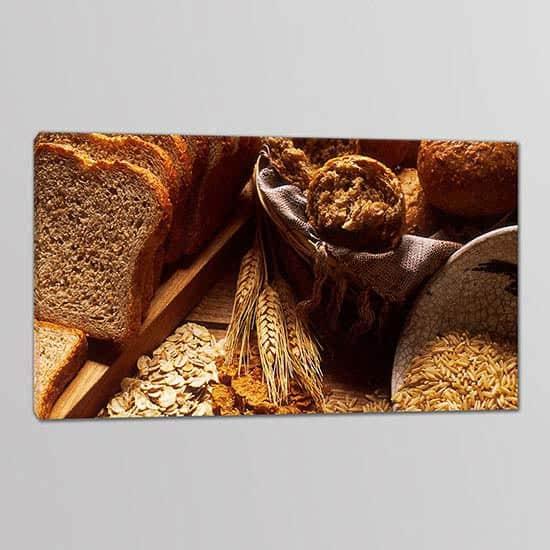Tris quadri moderni pane cereali