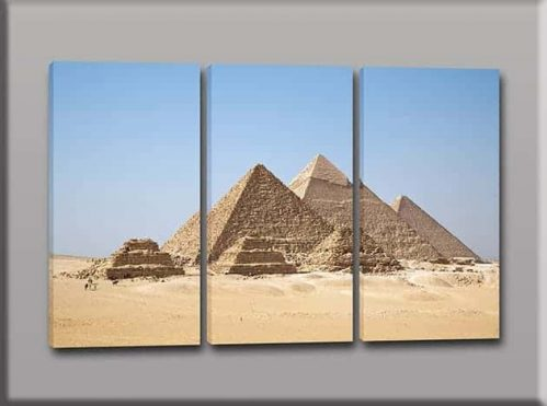 tris quadri moderni piramidi Egitto