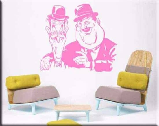 wall stickers Stanlio e Ollio