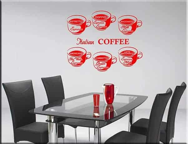 wall stickers coffee bar caffè