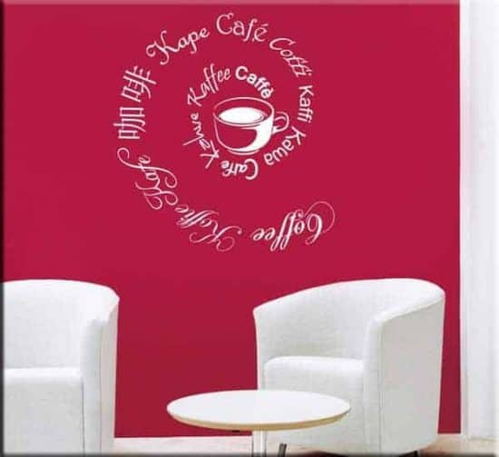 wall stickers coffee caffè bar
