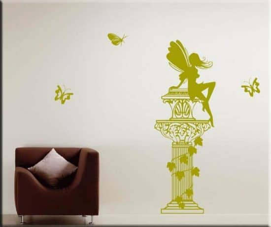 wall stickers colonna fantasy farfalle