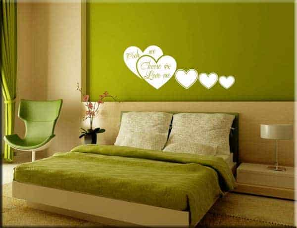 wall stickers cuori love me