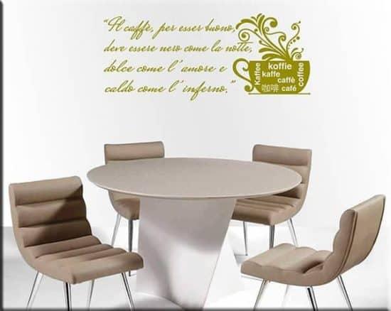 wall stickers frase caffè bar
