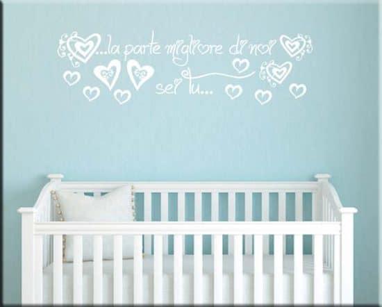 wall stickers frase love bebè