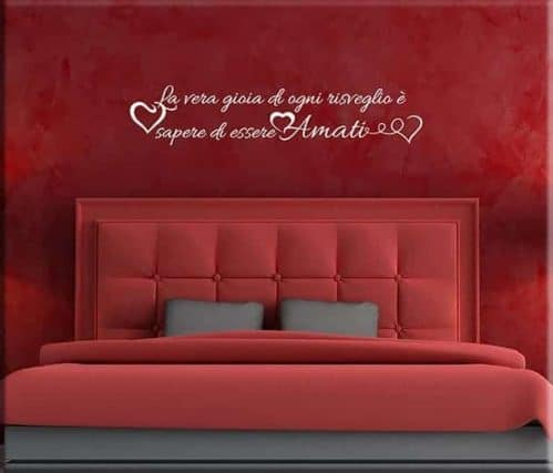 wall stickers frase love letto