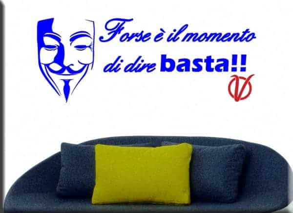 wall stickers frase v per vendetta