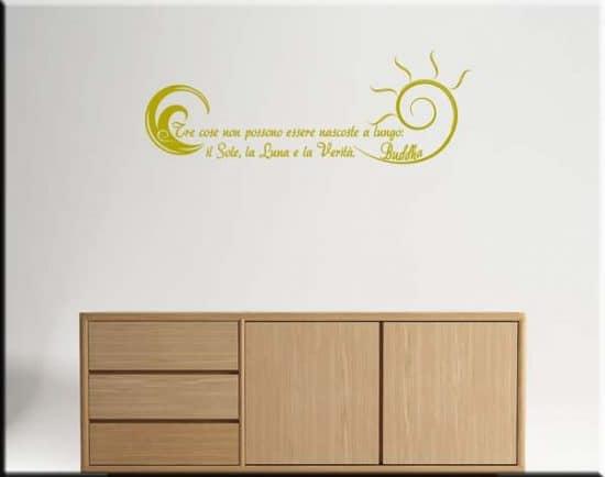 wall stickers frasi buddha