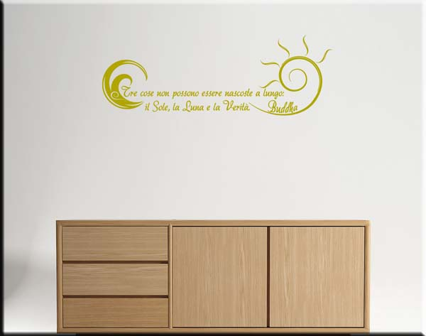 wall stickers frasi buddha