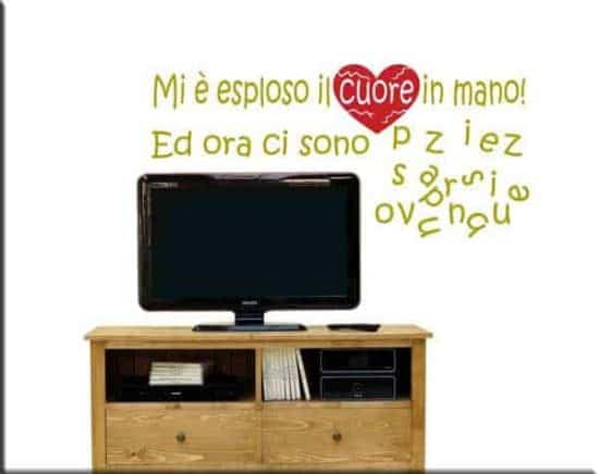 wall stickers frasi cuore in pezzi