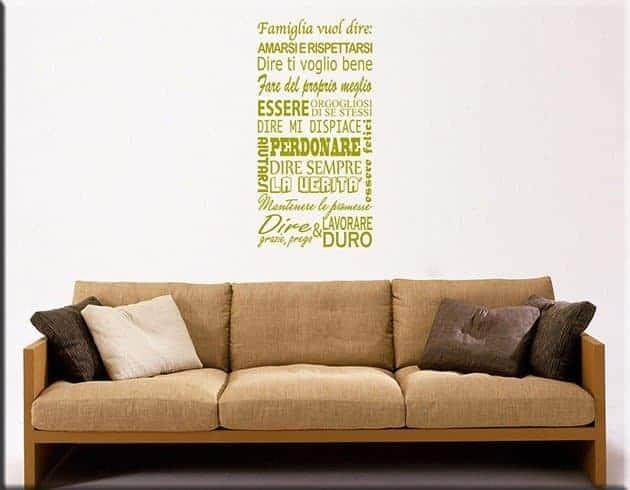 wall stickers frasi famiglia