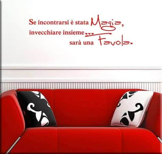 wall stickers frasi magia favola