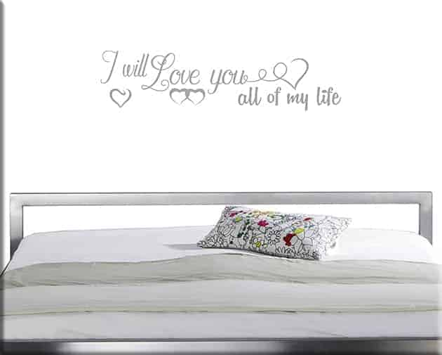 wall stickers love frase life