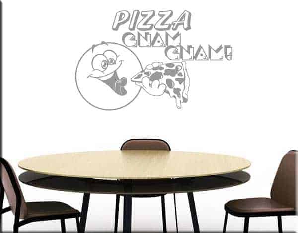 wall stickers pizza gnam