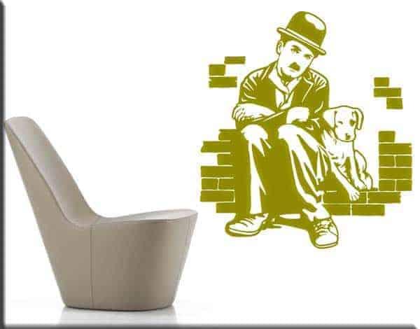 Adesivi da parete Charlie Chaplin cinema