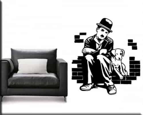 Adesivi murali Charlie Chaplin cinema