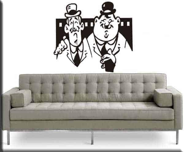 Adesivi murali Stanlio Ollio cinema