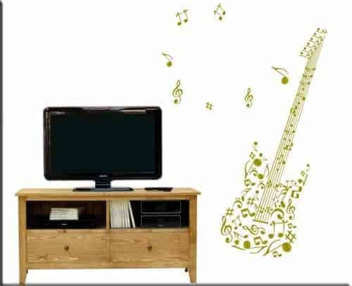 Adesivi murali chitarra note musicali
