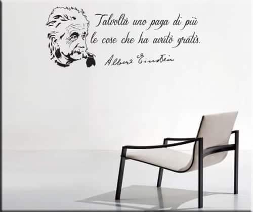Decorazione murale citazione Albert Einstein