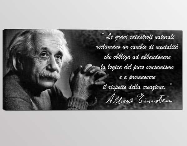 Quadro moderno Albert Einstein citazione