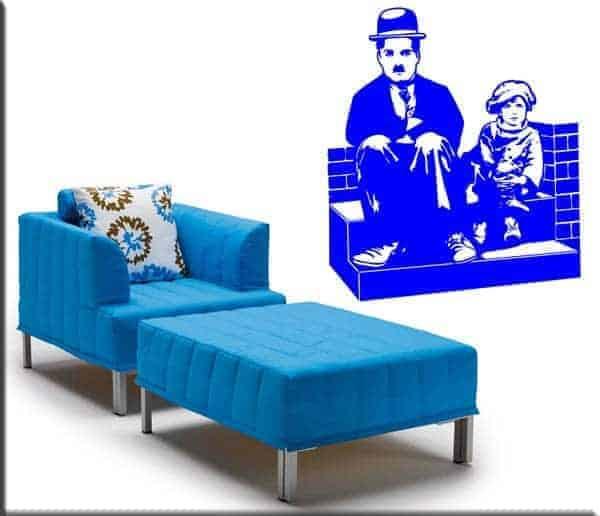 adesivi da parete Charlie Chaplin Monello