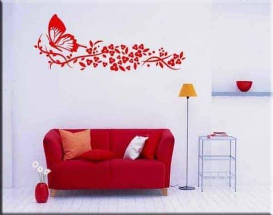 adesivi da parete farfalla fiori