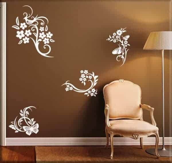 Decorazioni murali fiori stilizzati for Quadri fiori stilizzati