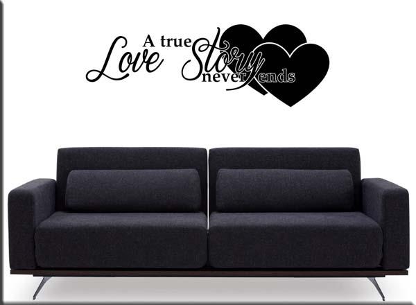 adesivi da parete frase love story
