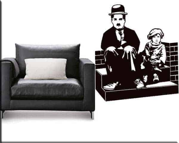 adesivi murali Charlie Chaplin Monello