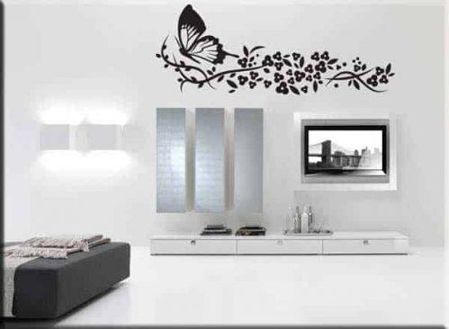 adesivi murali farfalla fiori