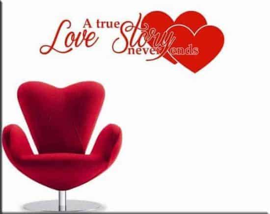 adesivi murali frase love story