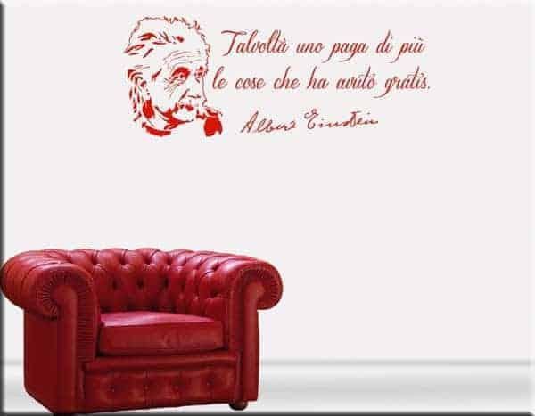 adesivi murali frasi Albert Einstein