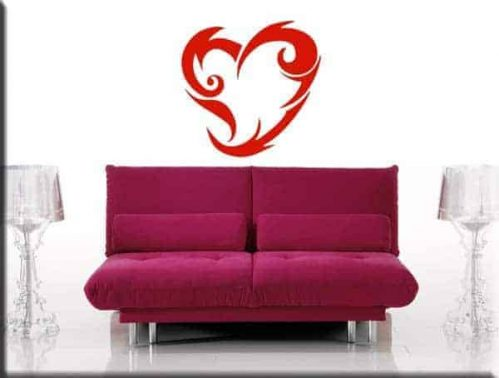 adesivo murale cuore tattoo heart