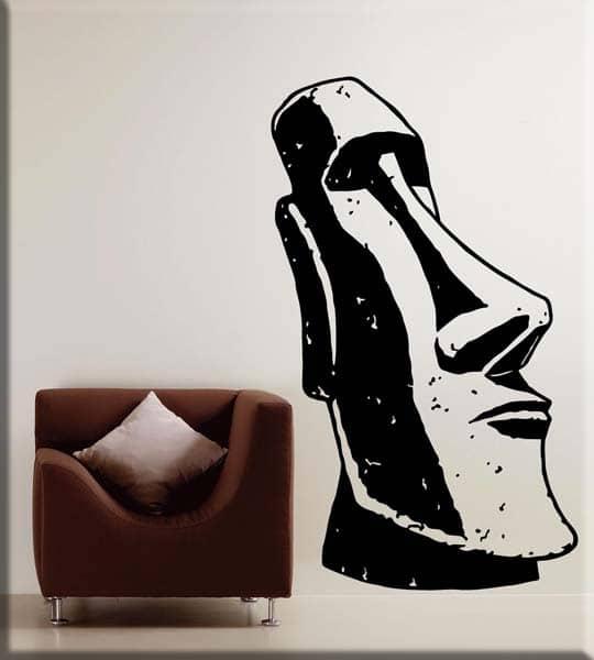 adesivo murale statua Moai totem