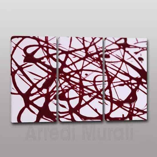 arte astratta 3 quadri moderni stampa su tela