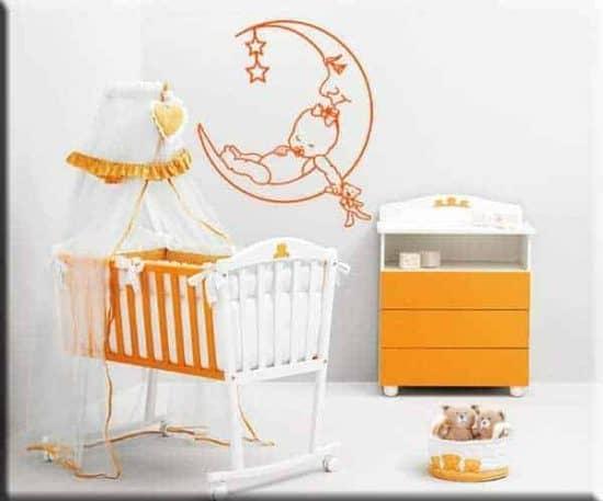 decorazione murale bambini bebè luna