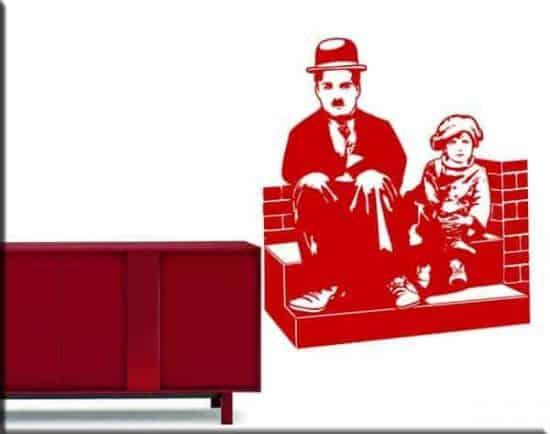 decorazioni murali Charlie Chaplin Monello