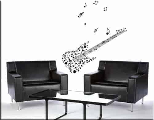 Adesivi murali musica anche con frase personalizzata - Decorazioni muro adesive ...