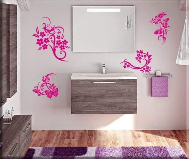 decorazioni murali fiori stilizzati