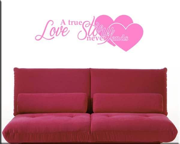 decorazioni murali frase love story