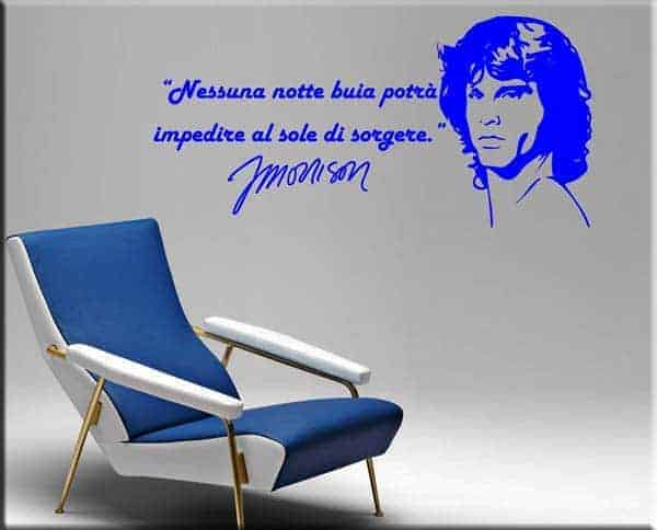 decorazioni murali frasi Jim Morrison